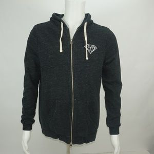 MENS DIAMOND SUPPLY CO. FULL ZIP UP HOODIE